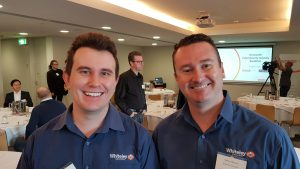 Chris Hoffman and Rodney Elbourne at Cybersecurity Breakfast
