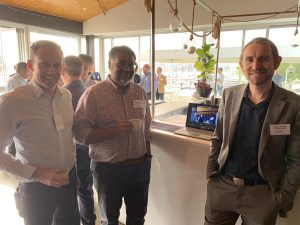 Brad Lacey and Shehzad Abbas of ARTC, with Dean Corcoran of Microsoft with the Realtime Crowd Insights software.